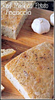 Homemade Red Mashed Potato Focaccia