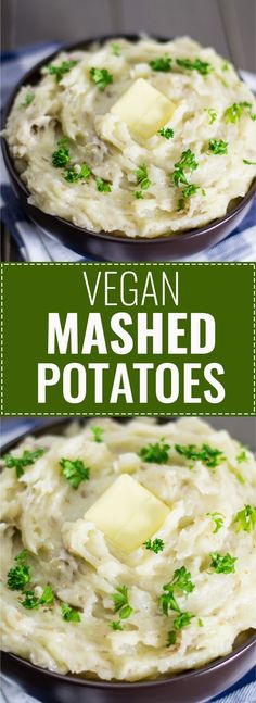 Easy, creamy, and delicious vegan mashed potatoes recipe. These will be the star of your Thanksgiving table! #vegan #mashedpotatoes #vegetarian #thanksgiving