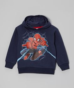 This Navy Spider-Man Hooded Sweatshirt - Toddler & Boys by Spiderman is perfect! #zulilyfinds