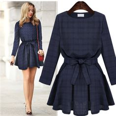 >> Click to Buy << Big Size 4xl 5xl Plaid Women Dress Spring Autumn Dresses Brazil Kleider Fish China Fashion Tunic Tunika Vestido 2396 #Affiliate