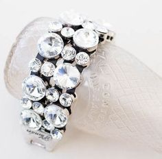 """A stunning statement piece for your wrist! This blingy bracelet measures 7.5"""" to 10"""" and includes an extender."""