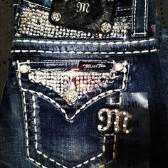 These are my favorite jeans I have are Miss Me's!!