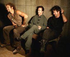 Joe Flanigan, David Hewlett, and Jason Momoa David Hewlett, Michael Shanks, Sci Fi Tv, Sci Fi Series, Stargate Atlantis, The Thing Is, Best Series, Jason Momoa, Bts Pictures