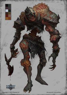 Zombie knight, Anatolii Leoshko on ArtStation at https://www.artstation.com/artwork/LmK8R