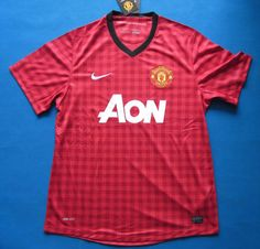 12-13 Man Union Home Fans Version Top Thai Quality soccer jersey shirts  Jersey Shirt 176e4e087436