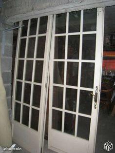 Porte fenêtre en bois petit carreaux TBE Bricolage Loiret - leboncoin.fr