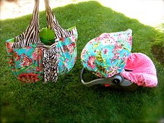 Infant Cover & Matching Diaper Bag Summer Love by ChubbyBaby, $185.00