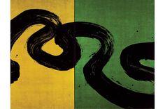 Méandres. La pensée labyrinthique I, 2011, ink, pigments and glazing on canvas, 198 x 402 cm© Fabienne Verdier. Courtesy Galerie Jaeger Buch...
