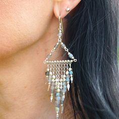 DIY Icy Fringe Earrings with Faceted Gemstone Cubes– Goody Beads Wire Weaving Tutorial, Head Pins, Fringe Earrings, Color Yellow, Charm Jewelry, Jewelry Supplies, Labradorite, Colorful Backgrounds, Silver Plate