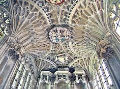 the fan vaulted ceiling of the Chantry Chapel built for (but never occupied by) Margaret, Countess of Salisbury - the Last Plantagenet - in Christchurch Priory.  She was executed, aged 67, in the Tower of London on the 27 May 1541, in one of the most paranoid acts of the paranoid Henry VIII, and buried in the Chapel of St Peter ad Vincula in the Tower.