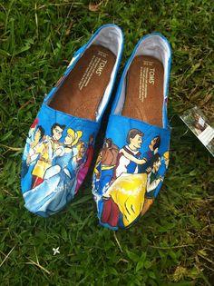 Princess Handpainted Toms