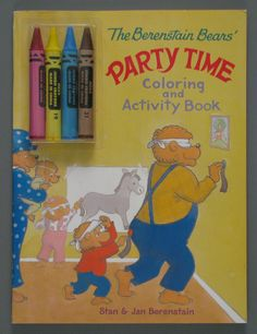 Berestain Bear Colors Crayons Part of Stan and Jan Activity Pack