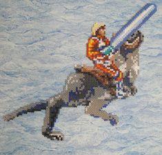Luke Skywalker riding Tauntaun Perler Bead Sprite by Nicolel12 on deviantart