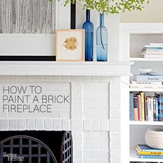 If you've grown weary of the look of your brick fireplace surround, take note: Even the most inexperienced DIYers can learn how to paint a brick fireplace.