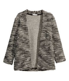 (idea: textured marled yarn w/ fitting like a soft jacket) Product Detail | H&M US