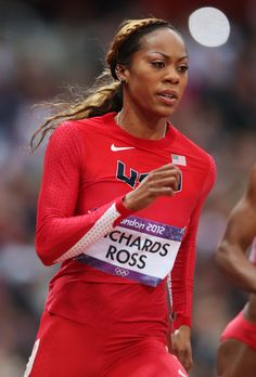 Sanya Richards-Ross of the United States runs in the Women's 200m heat on Day 10 of the London 2012 Olympic Games at the Olympic Stadium on August 6, 2012