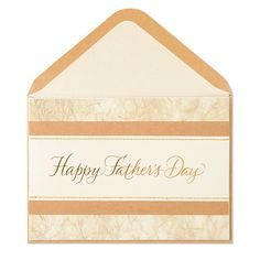 Wish him a Happy Father's Day with this elegant card that features layered paper accented with foiling and delicate gold stitching.