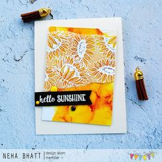 Periwinkle Creations: Sunflowers and alcohol inks