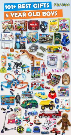 Gifts for 5 year old boys or girls for birthdays, Christmas, or any occasion. See the best toys for 5 year old boys. Tons of gift ideas for 5 year olds sorted by category. gift for boys Gifts For 5 Year Old Boys 2020 – List of Best Toys Best Gifts For Boys, Cool Toys For Boys, Unique Gifts For Kids, Birthday Gifts For Boys, Toys For Girls, Kids Gifts, Birthday Games, Free Birthday, Birthday Kids