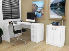 Mesa para Computador/Escrivaninha - 3 Gav... com 34% de desconto