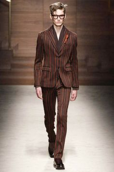 <3 I want to see someone with a dark complexion wearing this. They'd kill it.  Salvatore Ferragamo | Fall 2014 Menswear Collection | Style.com