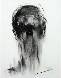 [107] untitled charcoal on canvas 53.2 x 41 cm 2013
