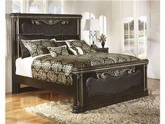 Ashley Furniture Signature Design Hopedale Kingcal King Uph Mansion Ftbd At  Big Sandy Superstore