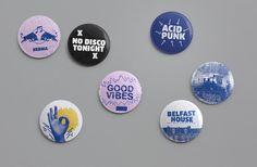 Redbull Music Academy Belfast - Badges - Art Direction & Design - Jonny Costello  Adultartclub