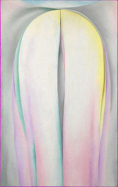 Georgia O'Keeffe (American, Sun Prairie, Wisconsin 1887–1986 Santa Fe, New Mexico). Grey Line with Lavender and Yellow