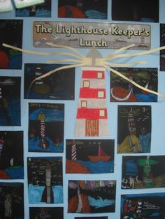 The Lighthouse Keepers Lunch Class Displays, School Displays, Classroom Displays, Lighthouse Keepers Lunch, Katie Morag, Little Red Lighthouse, Early Years Classroom, Great Fire Of London, Eyfs Activities