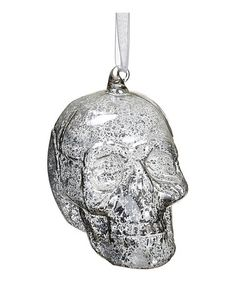 Loving this Silver Skull Ornament on #zulily! #zulilyfinds