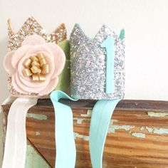 Mini Sparkle Birthday Crown - every birthday boy or girl needs a crown for their first birthday!