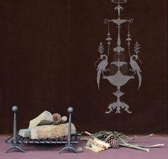 Emery & cie - Furniture - Fireplace - Firedogs - Boule