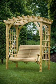3' x 6' Roman Arch Arbor with Rollback 4' Hanging Swing