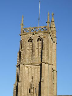 The tower of St John the Baptist Church Colerne taken from the bedroom at Church Cottage