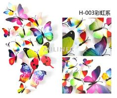 12 Pcs/Lot PVC Butterfly Decals Wall Stickers Home Decor Poster for Kids Rooms Adhesive to Wall Decoration Adesivo De Parede Kitchen Wall Stickers, Kids Wall Decals, Wall Stickers Home Decor, Window Stickers, 3d Butterfly Wall Decor, 3d Butterfly Wall Stickers, Butterfly Room, Butterfly Design, Flower Wall