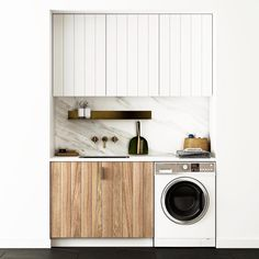 Small Laundry Room Design Inspiration, Little Space If you have no space for a full-on laundry room, don't worry: These well-decorated spaces are proof that tiny living can breed innovative design. Here are the best laundry closets and nook we found. Laundry Closet, Laundry Room Organization, Laundry In Bathroom, Basement Laundry, Laundry Area, Laundry Storage, Küchen Design, Interior Design, House Design