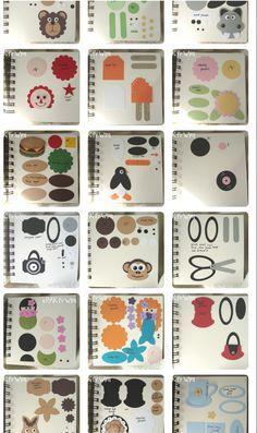 Creative art punch book