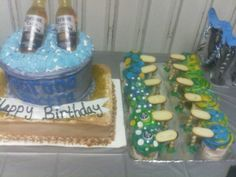 Corona cake and high heel cupcakes