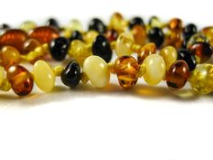 Genuine Handmade Amber Necklace, zoom, Multicolor Beads, for Adults, Polished Beads, Gemstone, Healing properties, Nursing Mums, for Women