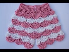 Poncho Crochet - How to make a fan skirt very esasyCrochet Shorts and Blouse – Crafting TimeFashion Dress Designer Price Crochet Baby Clothes Patterns For BeginnersMake a crochet skirt with ruffles, any size. Crochet Pants, Crochet Ruffle, Crochet Skirts, Crochet Baby Clothes, Easy Crochet, Crochet Hood, Crochet Poncho, Crochet Bikini, Crochet Toddler