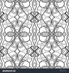 Seamless Monochrome Abstract Pattern. Hand Drawn Texture Stock Photo 256567978… Abstract Coloring Pages, Pattern Coloring Pages, Pattern Paper, Abstract Pattern, Hand Drawn, Monochrome, Pattern Illustrations, How To Draw Hands, Royalty Free Stock Photos