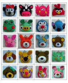 surtido Crochet Wallet, Crochet Case, Crochet Coin Purse, Crochet Backpack, Crochet Shoes, Diy Crochet, Crochet Change Purse, Diy Coin Purse, Coin Purses