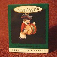 1996 Hallmark Keepsake Miniature Clothespin Soldier Series Ornament NIB