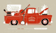 Rad Avett Brothers poster by Halftone Def Studios.