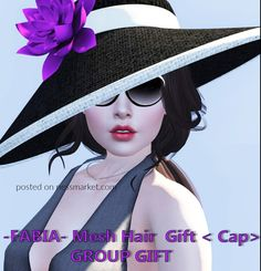 19fff2ea04 Fabia Group Gift Hair Cap Accessoire. SL Gift. The cap with the purple  flower