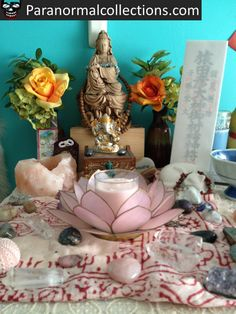 Kuan Yin altar. Just beautiful!