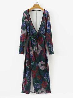 Shop Surplice Neckline Tied Floral Velvet Kimono online. SheIn offers Surplice Neckline Tied Floral Velvet Kimono & more to fit your fashionable needs.