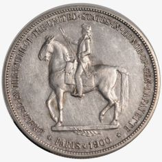 commemorative coin issue from the United States was the 1900 Lafayette Silver Dollar. In 1777, General Lafayette had brought French troops to America to help fight in the Revolutionary War. The coins were authorized at the request of the Lafayette Memorial Commission, who sought to raise funds for a Statue of General Lafayette in Paris. The statue would be presented as a gift of the American People for the 1900 International Exposition held in France.