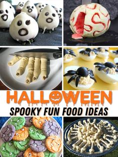 So many awesome Halloween food ideas all in one place. If you want to make creepy, cute, spooky food for Halloween, this is a great resource. Halloween Themed Food, Halloween Appetizers, Halloween Treats, Halloween Fun, Halloween Projects, Holiday Treats, Food Themes, Food Ideas, Spooky Food